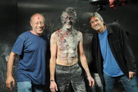 Mark Magidson and Ron Fricke with Olivier de Sagazan on set